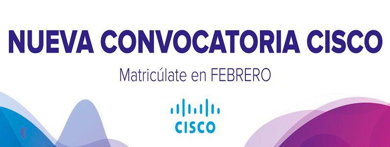 Convocatoria de cursos CISCO en Aula Mentor Casariche, Febrero 2020